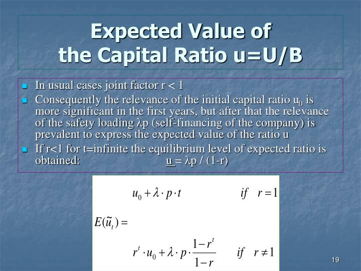 expected value of