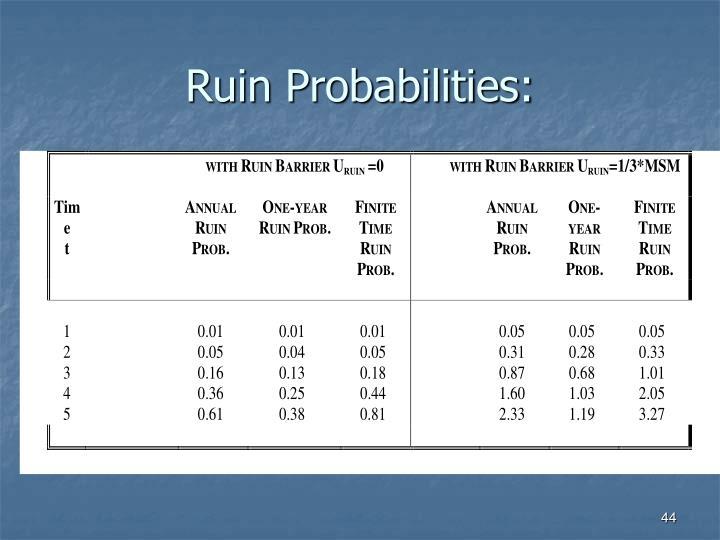 Ruin Probabilities: