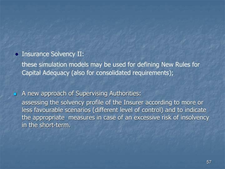 Insurance Solvency II:
