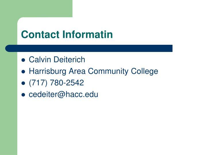 Contact Informatin