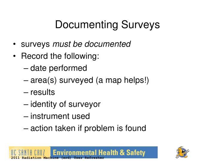 Documenting Surveys