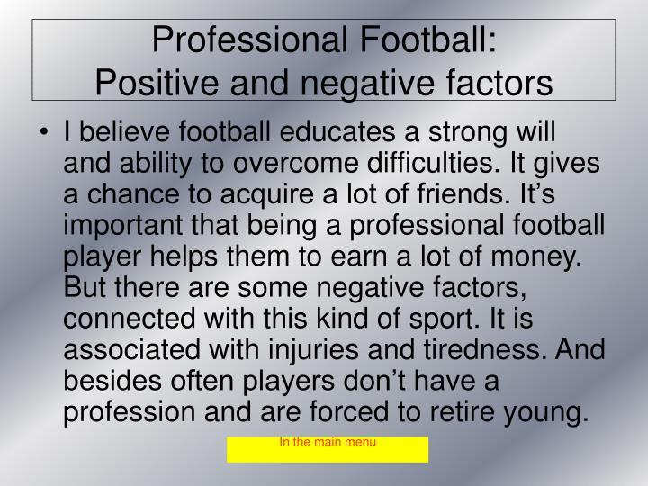 Professional Football: