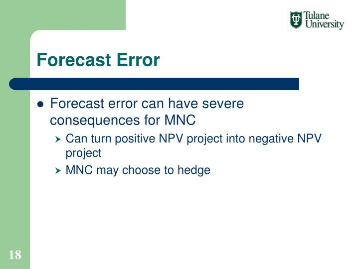 Forecast Error