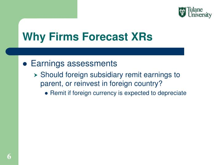 Why Firms Forecast XRs