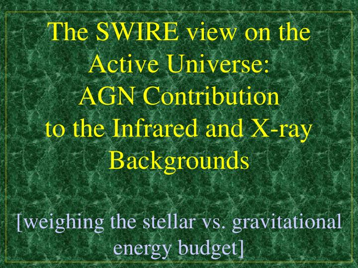 The SWIRE view on the Active Universe: