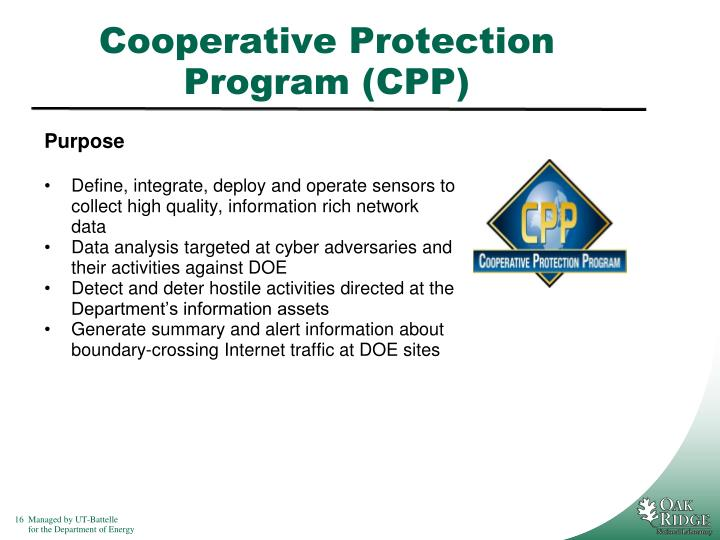 Cooperative Protection Program (CPP)