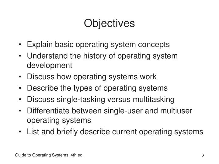 Explain basic operating system concepts