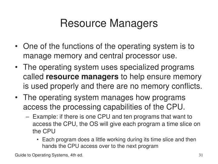 Resource Managers