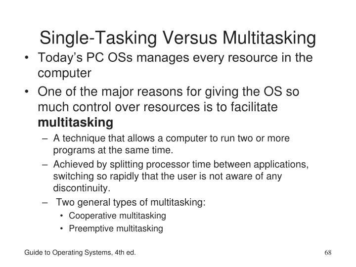 Single-Tasking Versus Multitasking