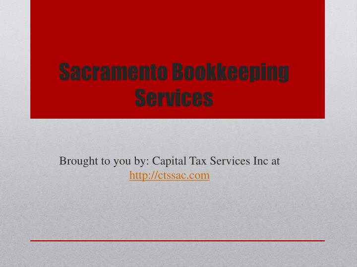 Sacramento Bookkeeping Services
