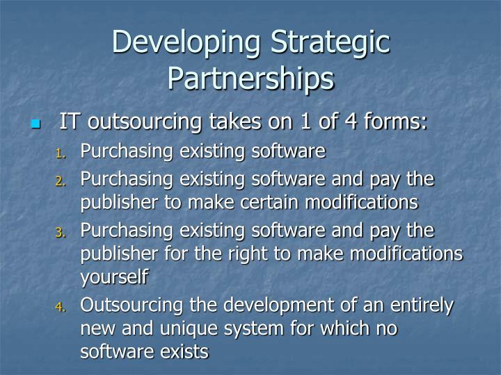 Developing Strategic Partnerships