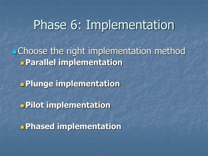 Phase 6: Implementation