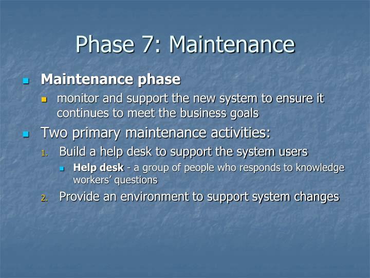 Phase 7: Maintenance