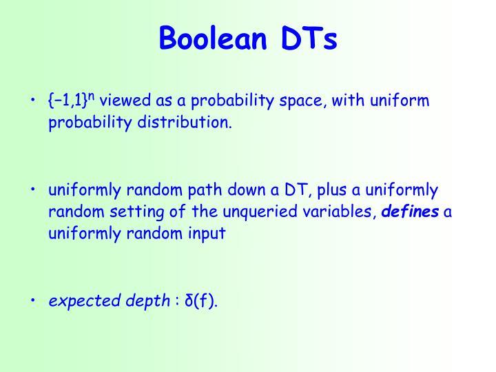 Boolean DTs