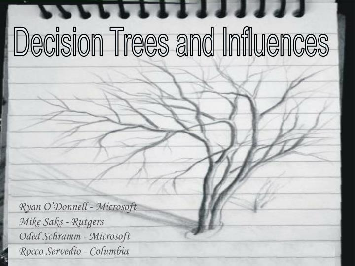Decision Trees and Influences