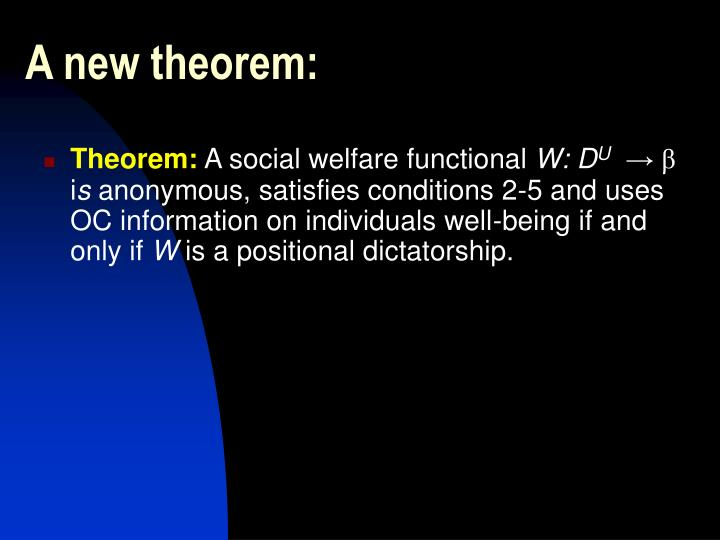 A new theorem: