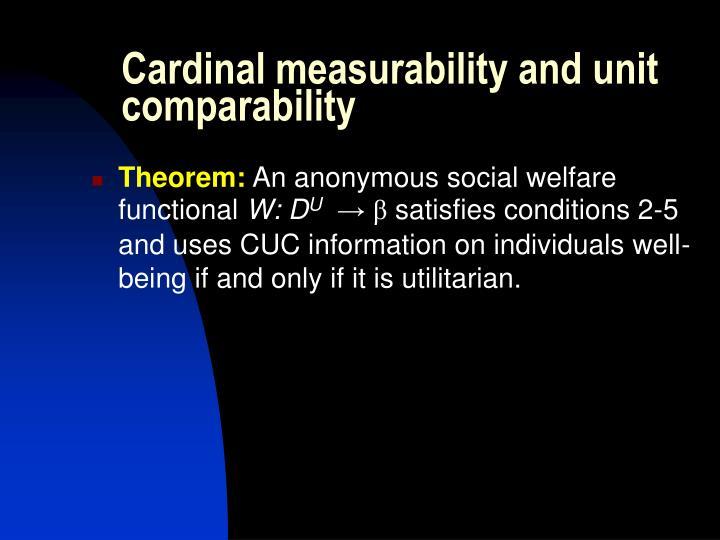 Cardinal measurability and unit comparability
