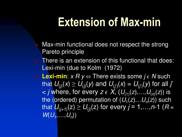 Extension of Max-min