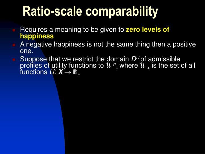 Ratio-scale comparability