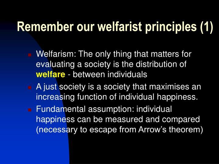 Remember our welfarist principles (1)