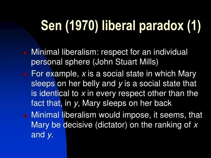 Sen (1970) liberal paradox (1)