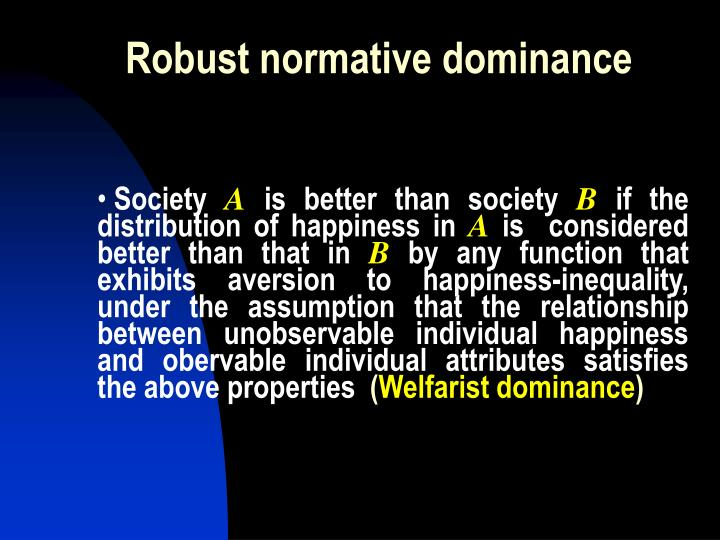 Robust normative dominance