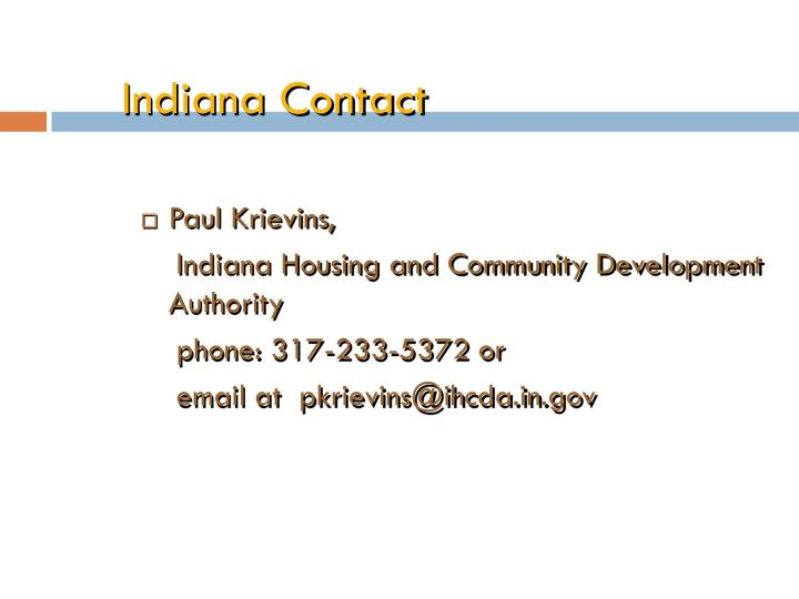Indiana Contact