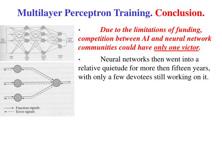 Multilayer Perceptron Training.