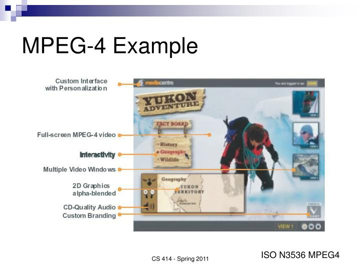 MPEG-4 Example