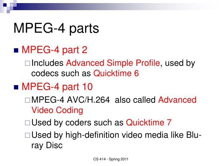 MPEG-4 parts