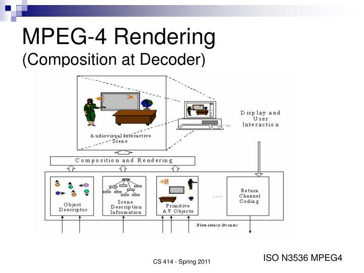 MPEG-4 Rendering
