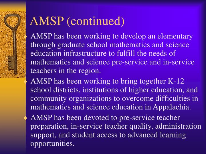 AMSP (continued)