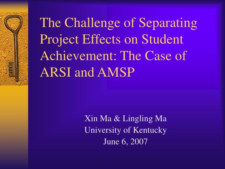 The challenge of separating project effects on student achievement the case of arsi and amsp