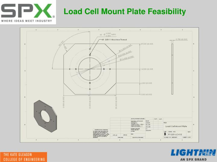 Load Cell Mount Plate Feasibility