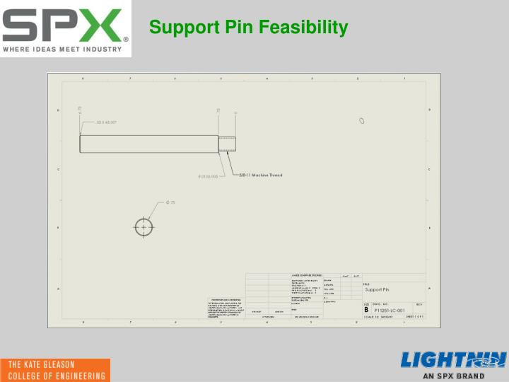 Support Pin Feasibility