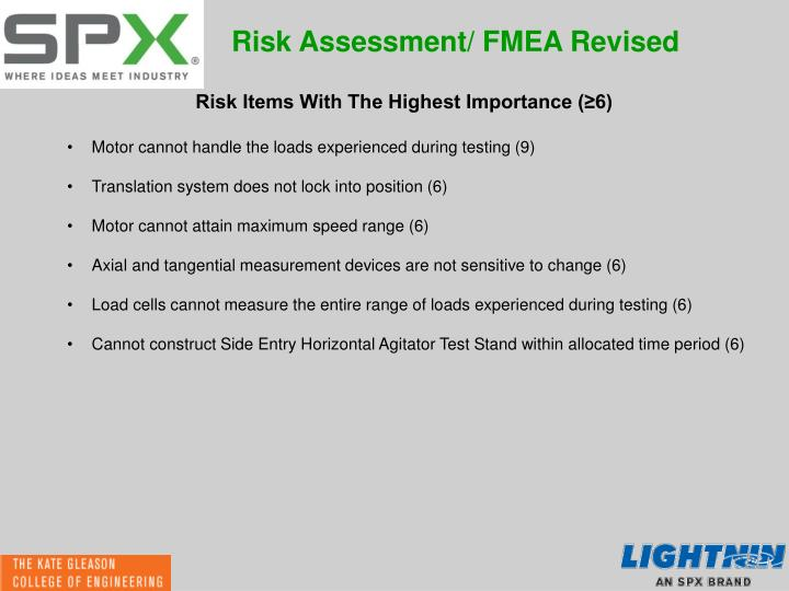 Risk Assessment/ FMEA Revised