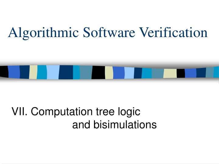 Algorithmic software verification