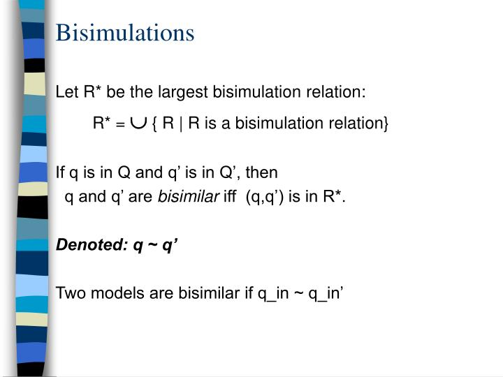 Bisimulations