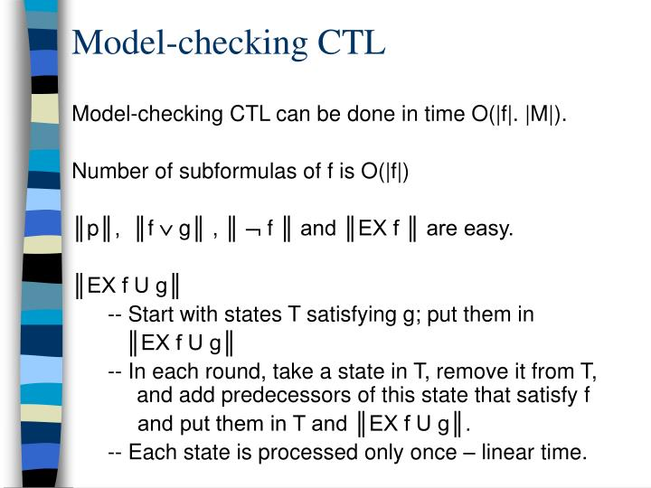 Model-checking CTL