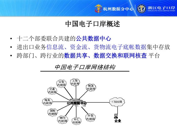 中国电子口岸概述