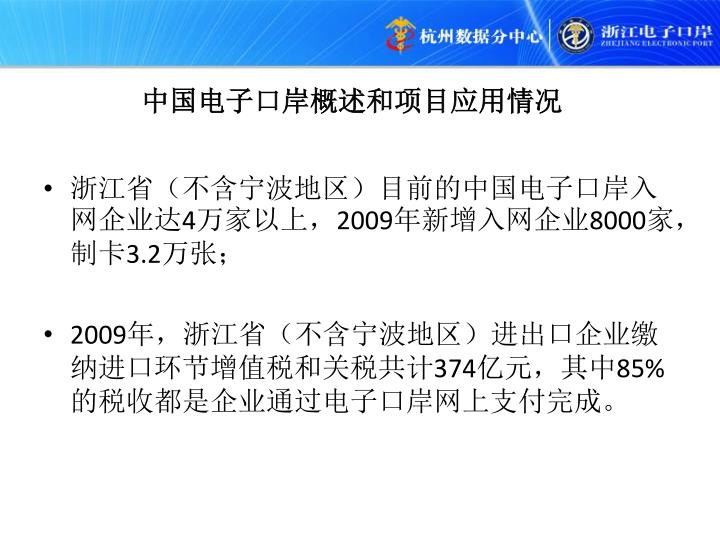 中国电子口岸概述和项目应用情况