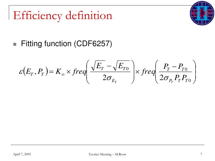 Efficiency definition