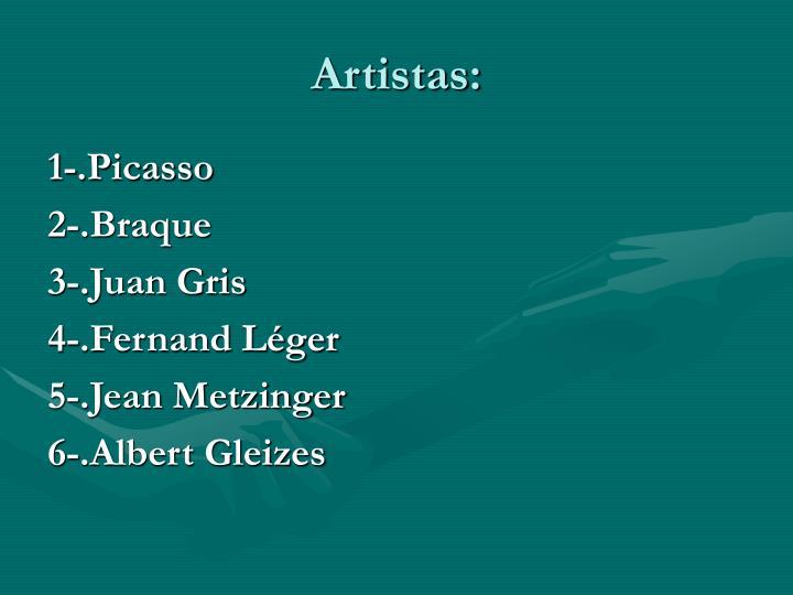 Artistas: