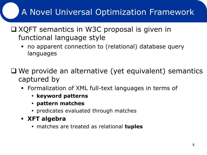 A Novel Universal Optimization Framework