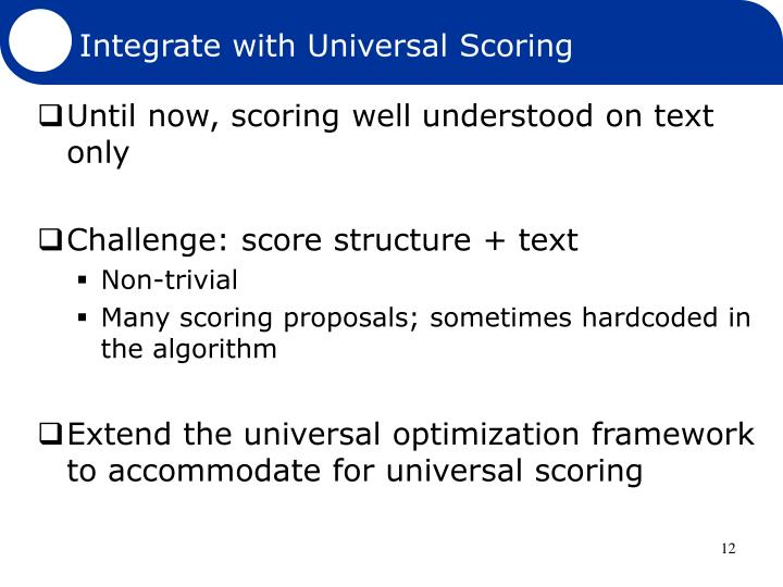 Integrate with Universal Scoring