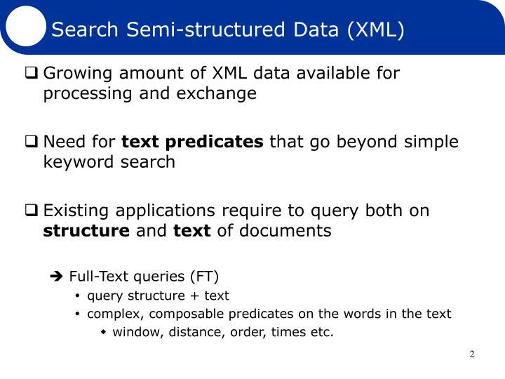 Search Semi-structured Data (XML)