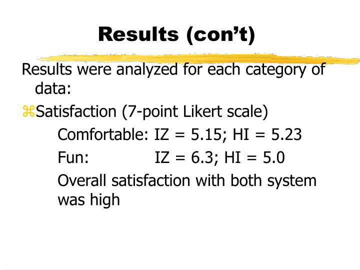 Results (con't)