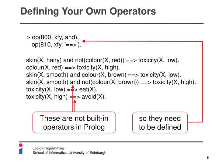 Defining Your Own Operators