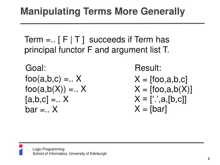Manipulating terms more generally1