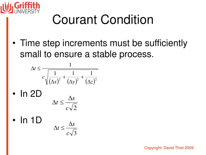 Courant Condition